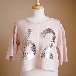 Sweaters - Pink 62 Jersey with Silver Embellished Numbers